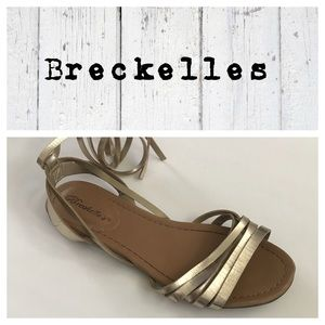 Breckelles ankle lace up sandals